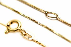 333/- Gold Kette Venezianer 45cm Damen Gelbgold Collier mit Geschenksäckchen !!!