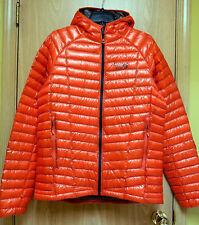 NEW $350 Mountain Hardwear Ghost Whisperer Hooded Down Jacket Mens L Orange