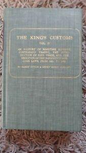 THE KING'S CUSTOMS Volume II (2) -  HENRY ATTON & HENRY HURST HOLLAND  1967