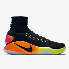 Nike Hyperdunk 2016 Flyknit UK 9 EUR 44 Black/Volt/Total Orange 843390 017