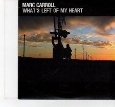 (FT402) Marc Carroll, What's Left Of My Heart - 2009 DJ CD