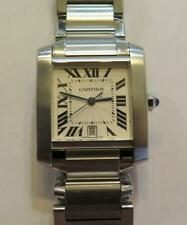 Cartier Tank Francaise 2302 Automatic Stainless Steel Large Size 28mm