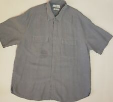 "M&S St.Michael Man's Soft Touch Chambray Linen Blend Shirt X Large Chest 44""-46"""