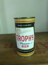 Nice Trophy Premium Beer flat top can:  B. B. Brewing co, Chicago, IL