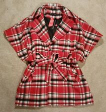 BNWT LADIES DEFINITIONS WRAP COAT. Size 12. Red/Black tartan. RRP £70.