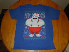Rudolf The Red Nosed Reindeer Abominable Snowman Shirt Mens Large Blue Bumbles