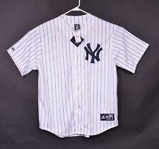 Derek Jeter Men Sz XL New York NY Yankees Pinstripe Baseball Jersey Majestic NWT