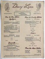 1944 WWII War Time OPA Rationing Menu DRURY LANE Restaurant 49th St. New York