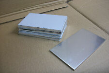 "50 PC LOT ALUMINUM SHEET 5052-H32 .125 1/8"" 3"" X 2"", 2""x2"", 3""x4"", 4""x4"", 3""x3"""