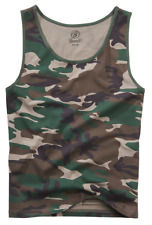 Brandit Camouflage Men's Tank Top Shirt Sleeveless Muscle Camo Army