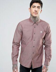 Pretty Green Oldbury Oxford Shirt Regular Fit | Mens New Burgundy | RRP £85