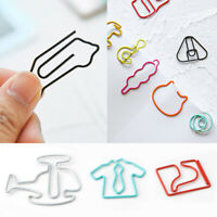 10pc Creative Cute Mixed Paper Clips Bookmark Memo Clip Office School Stationery