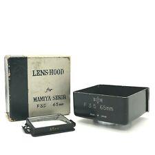 【EXC++++】Mamiya Sekor 65mm f/3.5 Metal Lens Hood + Viewfinder Mask For TLR Japan