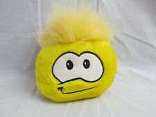 DISNEY CLUB PENGUIN YELLOW MOHAWK FUNNY FACE PUFFLE PLUSH STUFFED BABY TOY