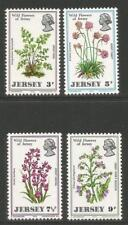 Jersey 1972 Local Wildflowers-Attractive Flower Topical (61-64) Mnh