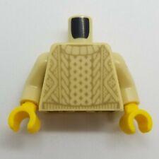 NEW LEGO | Minifigure Torso - Tan Knit Sweater Pattern Tan Arms Yellow Hands