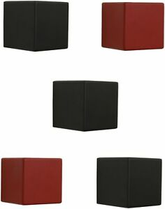 Home Sparkle Set Of 5 Cubes Shelf (Black And Red) Black;Red zgy