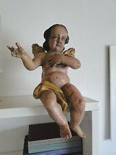 Bezaubernder Barock Putto Kantenhocker Italien Ende 17. Jahrhundert