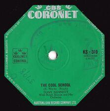 Tony Bennett ORIG OZ 45 Cool school EX '59 Coronet KS319 Vocal Jazz Pop
