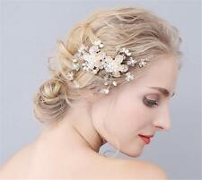 Cristal mariage cheveux peigne strass mariée coiffure floral perles strass
