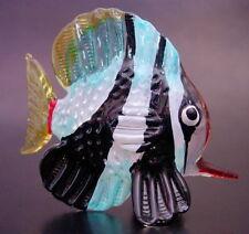 Glass TIGER FISH Stripy Painted Glass Animal Tropical Aquarium Glass Ornament