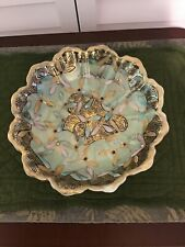 Nippon hand painted bowl beaded raised gold trim  older mark scalloped