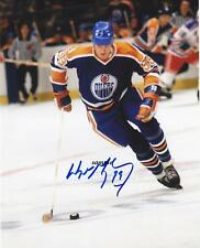 WAYNE GRETZKY #7 REPRINT AUTOGRAPHED SIGNED 8X10 PICTURE PHOTO OILERS NY RANGERS