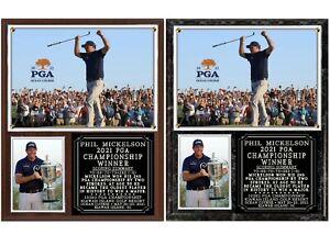 Phil Mickelson Historic 2021 PGA Championship Winner Photo Plaque