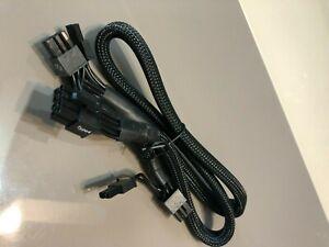 CORSAIR  8 PIN TO 2X  6+2 PIN PCIE POWER cable for Corsair TXM,HX ORIGINAL-BLACK