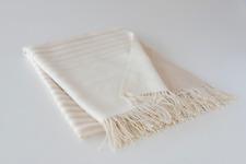 Baby alpaca throw blanket peru, 100% alpaca, cream, beige soft luxury, ethical