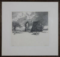 Contemporary Etching - Stone Circle with Sheep