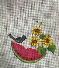 Sandy Jenkins Watermelon/Teapot Purse Painted Canvas