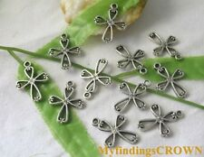 70pcs Tibetan Silver cross charms 16x22mm FC1364
