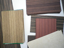 Common and Exotic wood veneer 50+pcs. 5 in. by 8 in. pcs.