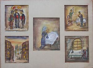 Simon Karczmar Judaica painting Jewish Polish artist