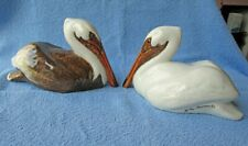 More details for pair of townsends ceramics hand-painted pottery pelicans, excellent condition