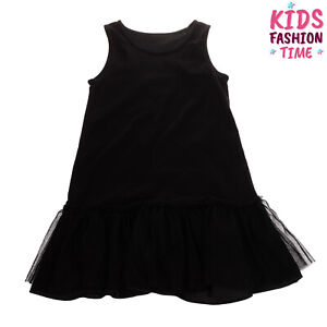 Shift Dress Size S / 5Y Tulle Insert Flared Hem Made in Italy