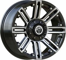 "WOLFRACE 18"" AMAZON BLACK AND POLISHED ALLOYS MERCEDES SPRINTER LOAD RATED"