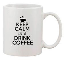 Keep Calm And Drink Coffee Hot Brewed Cup Tea Funny Ceramic White Coffee Mug