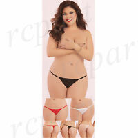 New women lingerie mesh thong plus size black white red 10690XP pack of 3