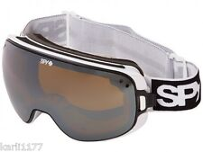 SPY OPTIC BRAVO GOGGLES SNOWBOARD BLACK WHITE DUAL LENS REPLACEMENT MSRP $185