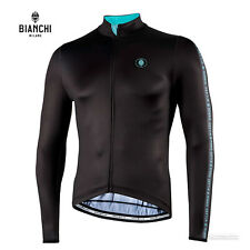 Bianchi Milano VALFURVA Long Sleeve Cycling Jersey : BLACK