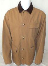 Marlboro Classics Mens Canvas Jacket With Leather Collar Size XL Original Khaki