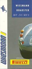 DEPLIANT PUBLICITAIRE WIESMANN ROADSTER - MF 28 / MF 3