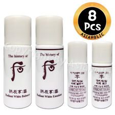 The history of Whoo Seol Radiant White Balancer (4pcs) + Lotion (4pcs) 8pcs