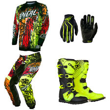O'Neal Element Vandal Motocross Dirtbike MX Gear Jersey Pants Gloves Boots Combo