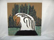 Art Sand Painting Walking Thunder Navajo Medicine Woman Eagle Of Spirit Signed