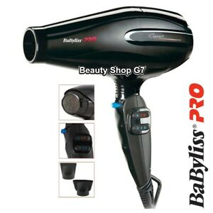Professional hair dryer Babyliss Caruso 2400W BAB6520RE *Made in Italy*
