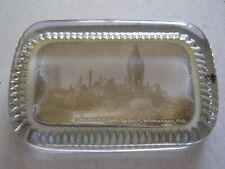 Chicago Milwaukee & St Paul Railway Depot Milwaukee Wisconsin Glass Paperweight