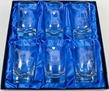 Set of Six Orrefors Glass Tumblers from The 1971 Epsom Derby Won by Mill Reef